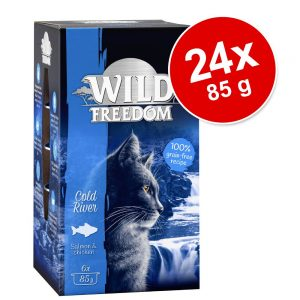 Ekonomipack: Wild Freedom Adult 24 x 85 g - Cold River - Salmon & Chicken