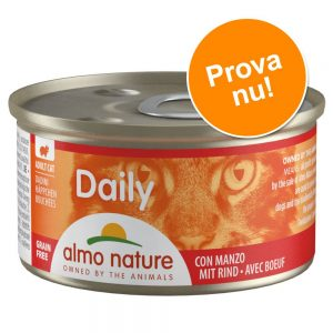 Provpack: 6 x 85 g Almo Nature Daily Menu - Mousse Havsfisk + lax (2 sorter)