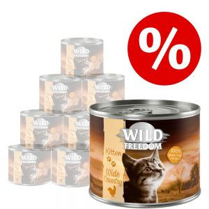 Wild Freedom Kitten 12 x 200 g - Golden Valley - Rabbit & Chicken