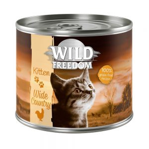 Wild Freedom Kitten 6 x 200 g Golden Valley - Rabbit & Chicken