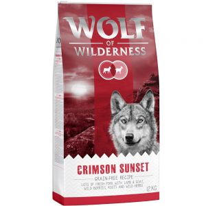 Wolf of Wilderness Crimson Sunset - Lamb & Goat Ekonomipack: 2 x 12 kg