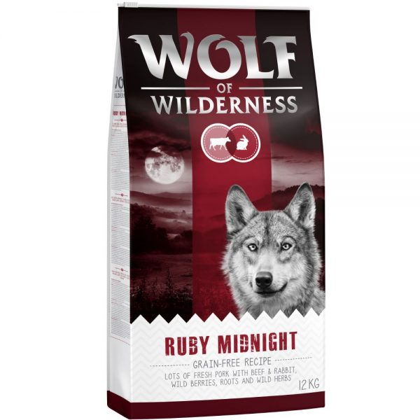 Wolf of Wilderness Ruby Midnight - Beef & Rabbit - 12 kg