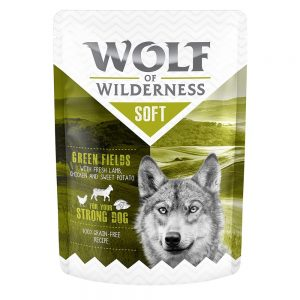 "Wolf of Wilderness """"Soft & Strong"""" 6 x 300 g - Meadow Grounds - Chicken & Rabbit"