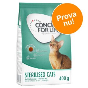 Provpack: 400 g Concept for Life - Sterilised Cats