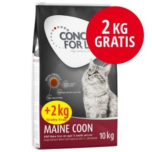 10 + 2 på köpet! Concept for Life kattfoder - Sensitive (10 + 2 kg)