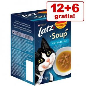 12 + 6 på köpet! 18 x 48 g Latz Soup - Mix Farm & Fish Selection