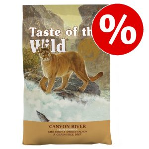 2 / 6,6 kg Taste of the Wild kattfoder till sparpris! - Canyon River Feline (6,6 kg)
