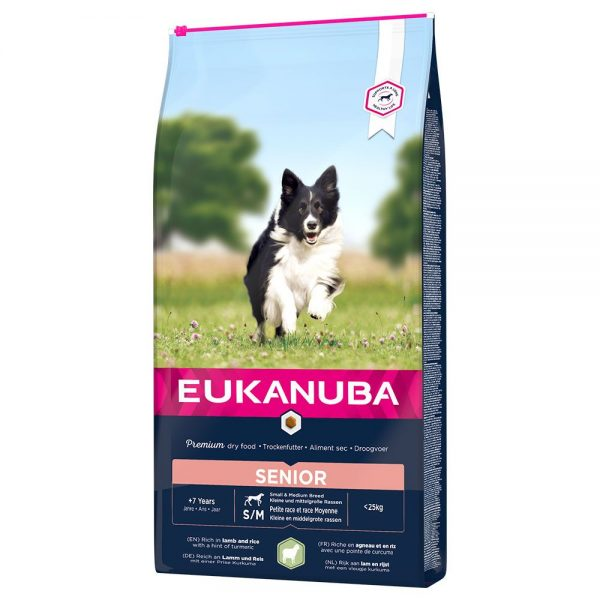 Eukanuba Senior Small & Medium Breed Lamb & Rice - 12 kg