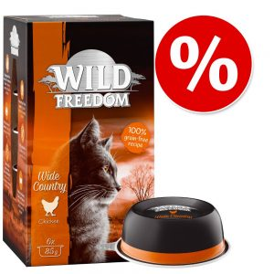 Sparpris! Wild Freedom Adult portionsform 6 x 85 g - Wide Country - Kyckling